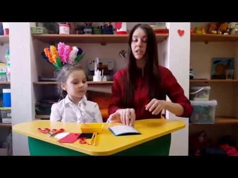 видео: Поделки с детьми - Как сделать необычную открытку на 8 марта