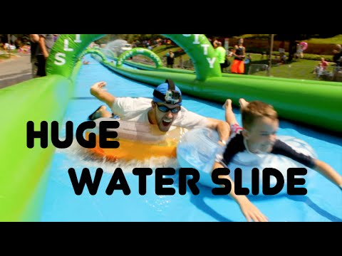 1000 ft Slip N Slide! Slide The City - Salt Lake City, Utah 2014
