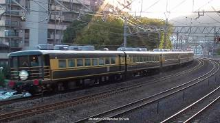 JR西日本 14系欧風客車「サロンカーなにわ」による琵琶湖一周団体臨時列車を撮影(H30.10.25)
