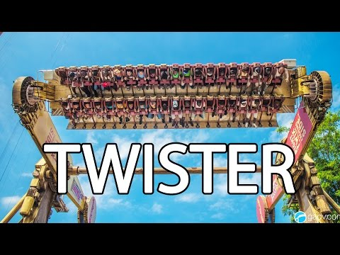 Twister - Six Flags Great Adventure - 7 Inversions!