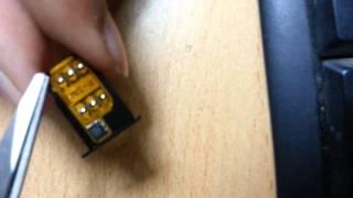 R-Sim Correct way to put Rsim to unlock Iphone 5 with nano sim- Latest method, avoids Sim damage