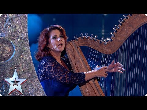 Harps will break! Ursula Burns' SPELLBINDING performance | Semi-Finals | BGT 2019
