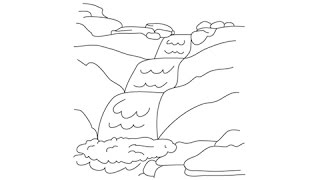 How to draw a River - Easy step-by-step drawing lessons for kids
