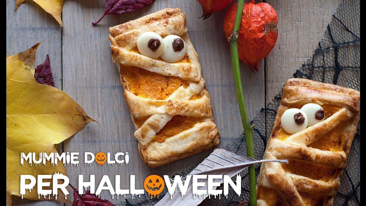 Dolci Halloween.Ricetta Halloween Mummie Dolci