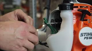 Ремонт триммера Stihl FS 55. Замена топливного фильтра на мотокосе ''Штиль''
