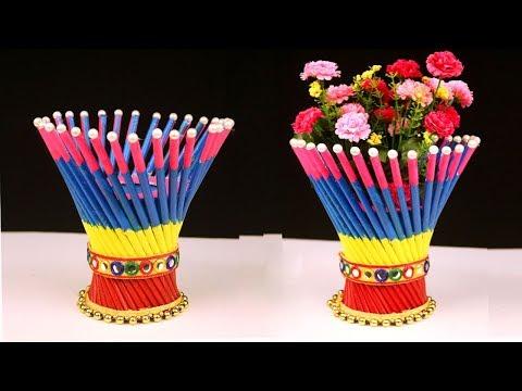 DIY: Newspaper Crafts – Best out of Waste Newspaper Craft Idea – Easy Flower Vase Craft Ideas