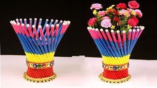 DIY: Newspaper Crafts - Best out of Waste Newspaper Craft Idea - Easy Flower Vase Craft Ideas