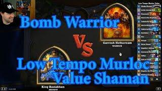 Control Value Scargil Shaman vs Bomb Warrior | Hearthstone