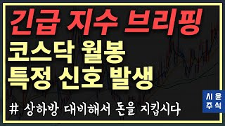 [긴급지수브리핑]-코스닥 월봉에서 위험 신호 발생! 가이드라인 잡으세요 #시윤주식