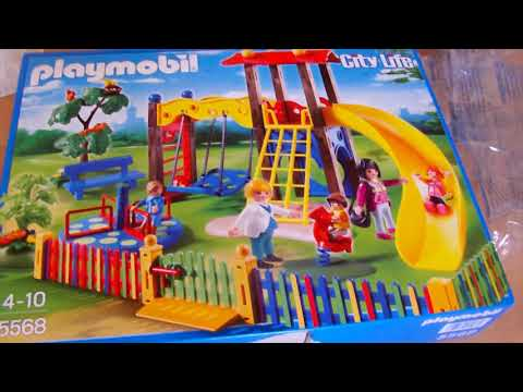 Fun City Life On The Playmobil Children's Playground - Unboxing and Assembling