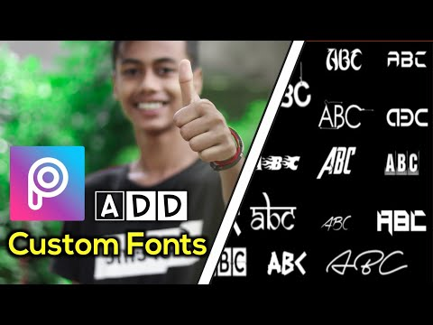 How To Add Custom Fonts In PicsArt 🔥