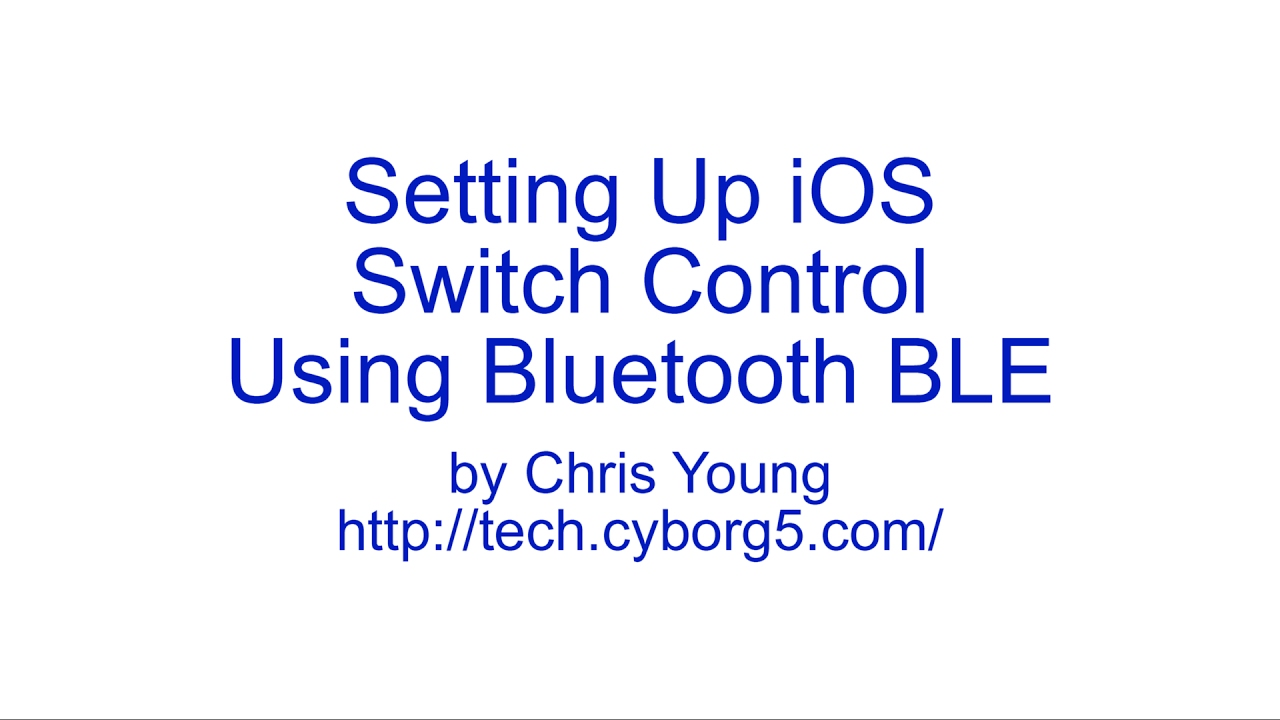 Setting up IOS Switch Control Using Bluetooth BLE