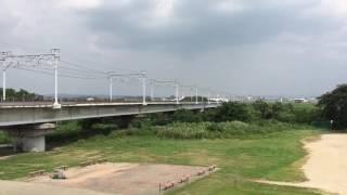 名古屋市営地下鉄N3000形甲種輸送 矢作川橋梁通過