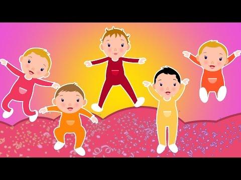 cinq petits bébés   comptines en français   chansons pour les enfants   Five Little Babies