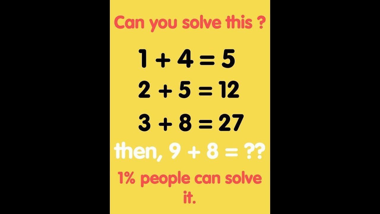 Worksheets Images Only Math impossible maths question only for geniuses can you solve it it