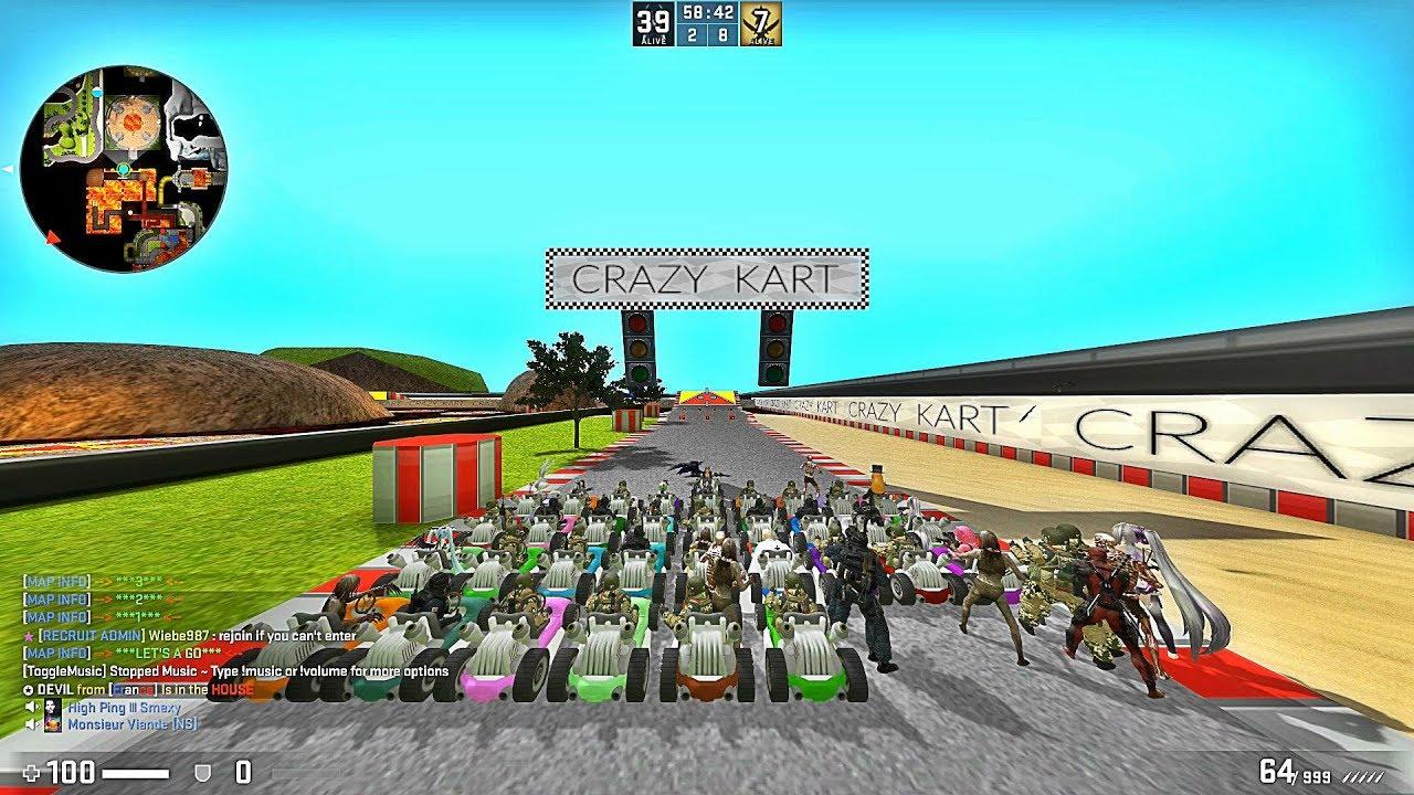 Csgo Mario Kart Race Zecrazykartb3 Map Youtube