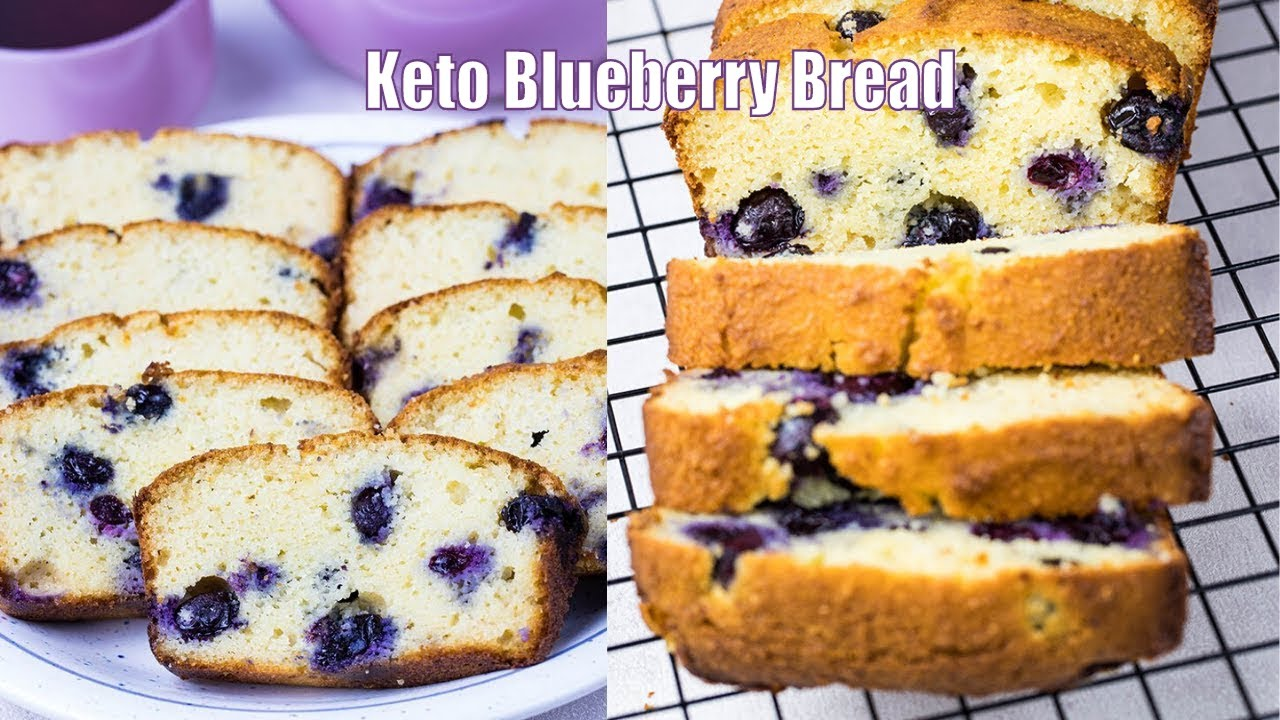 Easy Keto Blueberry Bread Low Carb Recipe 3g Carbs Per