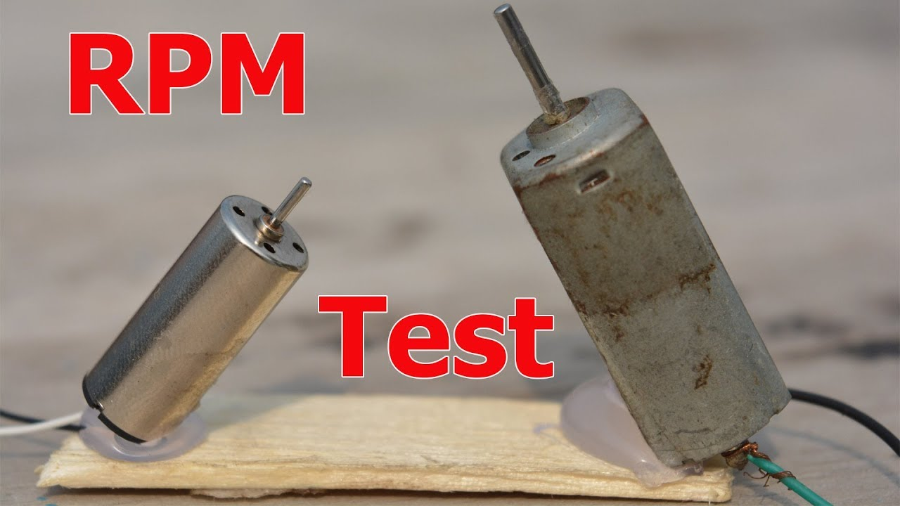 How To Measure DC Motor RPM | Without sensor