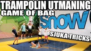 TRAMPOLIN UTMANING GAME OF BAG *SJUKA TRICKS*