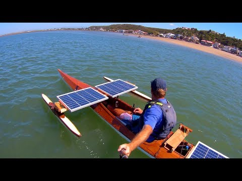 Solar kayak - new propeller test
