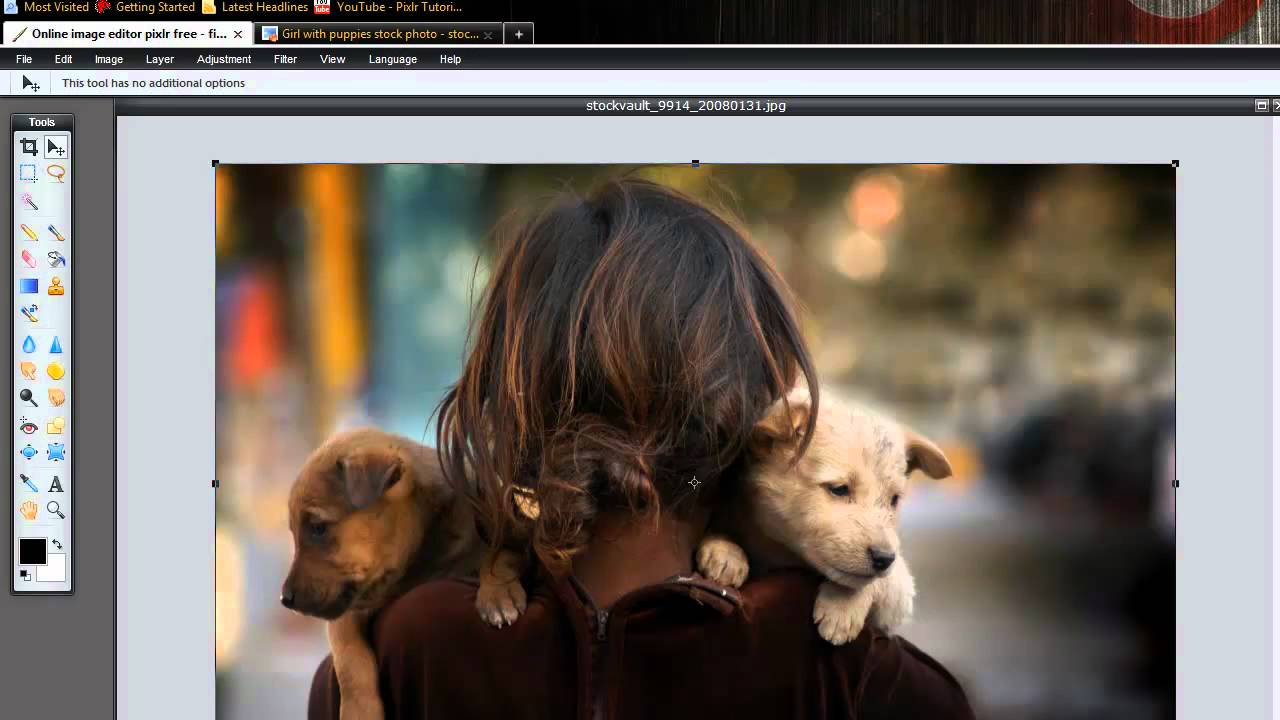 Pixlr Tutorial How To Quickly Resize Crop An Image Youtube