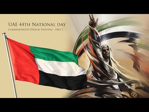 UAE 44th National Day Painting Timelapse Part 2 - Made with Microsoft Surface and Windows 10