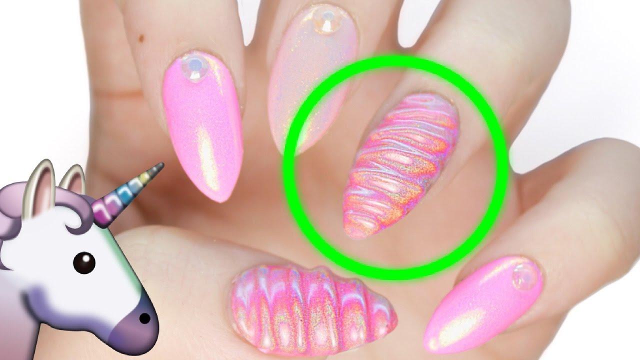 3D HOLO Unicorn Horn Nails