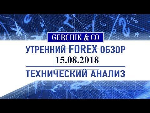 ❇ Технический анализ основных валют и нефти марки BRENT 15.08.2018 | Обзор Форекс с Gerchik & Co.