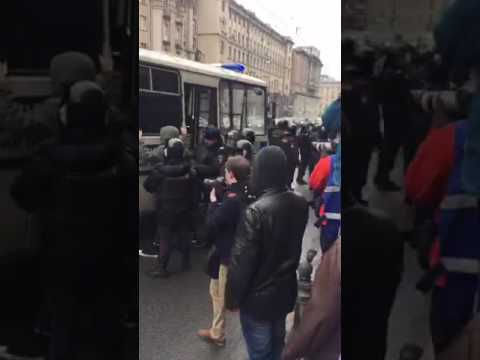 Moscow Russia protests against the government 2 April 2017