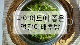 다이어트에 좋은 사찰음식/ 얼갈이배추밥/ 얼갈이배추 겉…