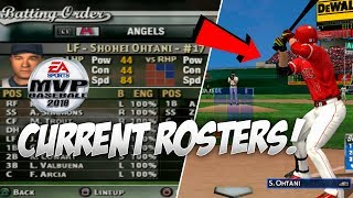 Updated 2018 Rosters in MVP Baseball 05!