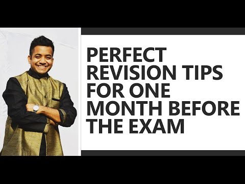 Perfect Strategy/Tips on what to do one month before the exam - Roman Saini