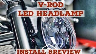Фото с обложки Harley Davidson V Rod Led Pathfinder Headlamp Install And Review
