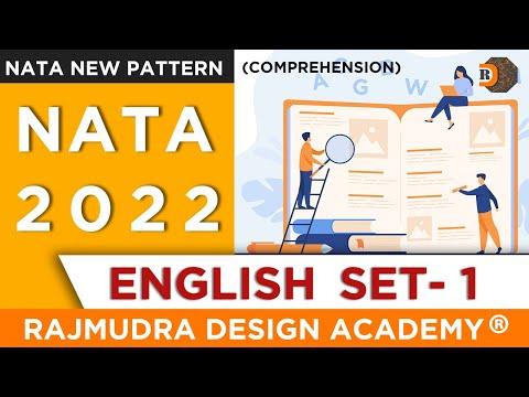 NATA 2021 |  NATA ENGLISH COMPREHENSION Set 1 | Most Important Questions | NATA ENGLISH Questions