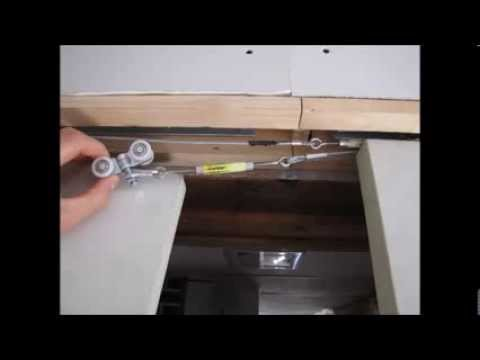 Pocket Doors Symmetrical Converging Pulley System Youtube