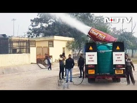 Delhi government tests anti-smog gun in Anand Vihar