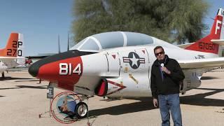 "Dennis ""Coach"" Warren checks out the T-2 Buckeye at Pima Air & Space Museum"