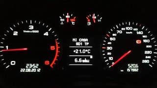 White Cluster Audi A3 TDI with software RS3