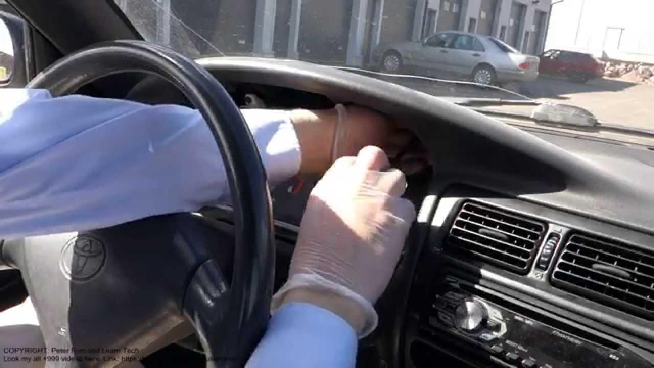 Car Toyota Corolla Fuse Box Location How To Replace Bulbs In Dashboard Toyota Corolla Years