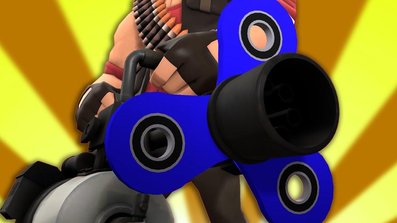Tf2 Fidget Spinner Minigun Youtube