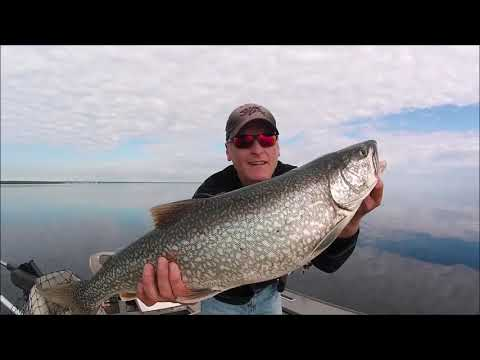 Lake Trout Fishing With Downriggers On Lake Huron
