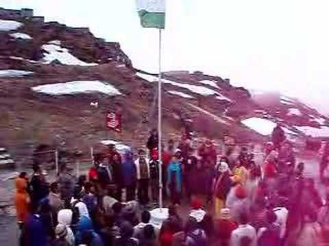 Jana Gana Mana at 15000ft