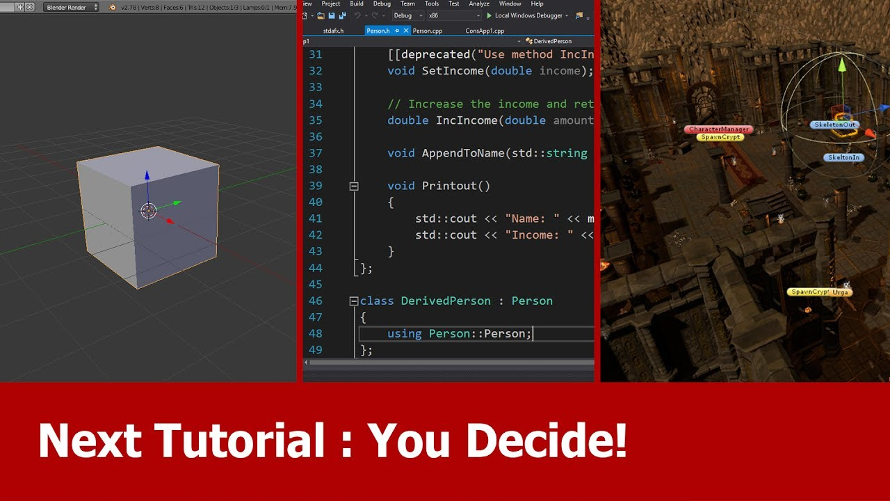 Next Tutorial: Blender, Programming C++ or Unity - Your Vote!
