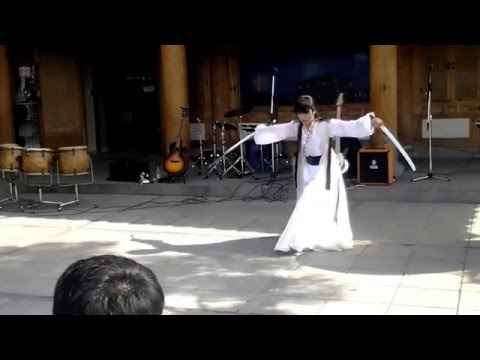 martial art - Sword dance team in korea