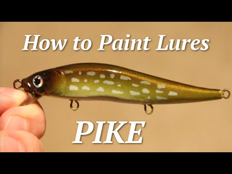 Airbrushing scales onto fishing lures funnycat tv for Airbrushing fishing lures