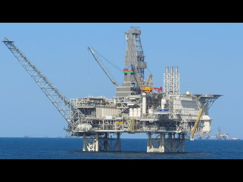 Installing the Biggest Oil and Gas Platform in the Caspian Sea