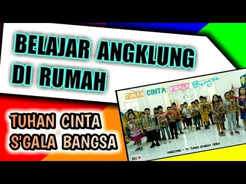Angklung TK B - Tuhan Cinta Segala Bangsa - TK Tunas Bangsa Ceria Surabaya - instrument latihan