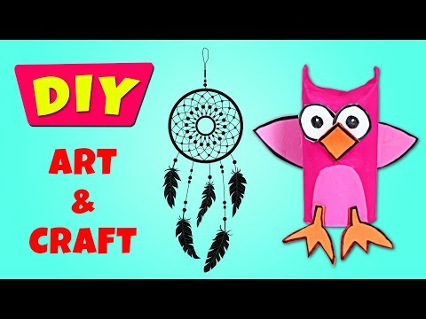 Learn How to make Toilet Paper Roll Crafts & Dream Catcher | Art and Craft by Hooplakidz How To