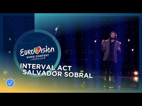 Salvador Sobral performs with Caetano Veloso at the Grand Final of the  Eurovision Song Contest