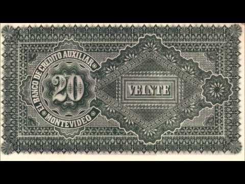 BANKNOTES URUGUAY BANCO DE CRÉDITO AUXILIAR 1887 ISSUE